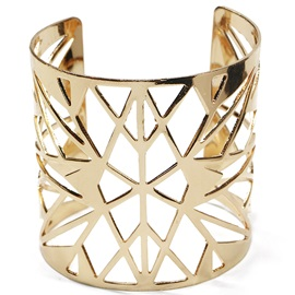 Golden Plated Triangle Hollow Design Bracelet