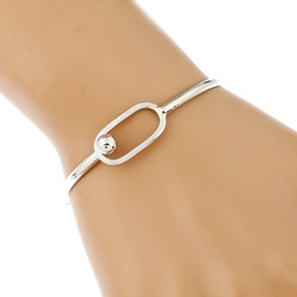 Simple Alloy Geometry E-Plating Bracelet