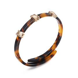 Gold Plated Alloy Amber Acrylic Bracelet