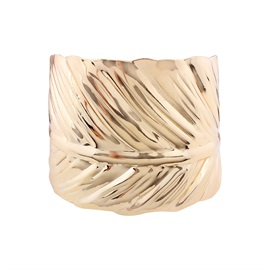 Golden Imitation Leaf Design Opening Alloy Bangle