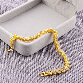 Full Drill Golden E-Plating Chain & Link Bracelets