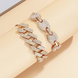 Korean Geometric Diamante Female Bracelets