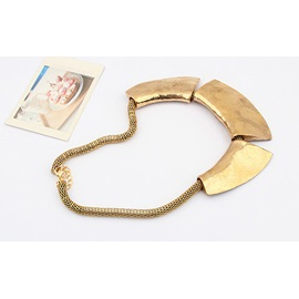 Western Restores Exaggeration Metallic Alloy Fashion Necklace
