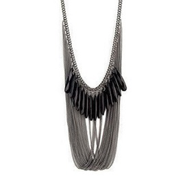 Beautiful New Silver Sweater Necklace