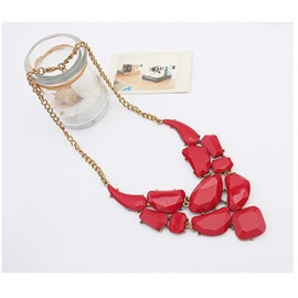 Luxurious Alloy with Resin Red Necklace