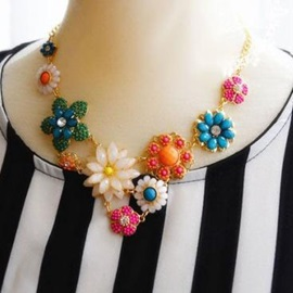 Flowers Grouped Bohemian Style All-matched Necklace