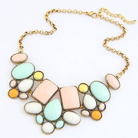 Fresh Candy Color Bohemian Style Women's Necklace