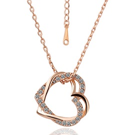 Heart to Heart Link Crystal Necklace