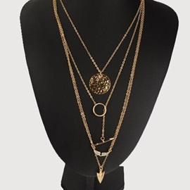 Cool Selling Angel Wings with Arrow Gold Layered Necklace