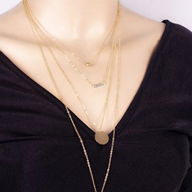 Gold Layered Alloy Geometric Women Necklace