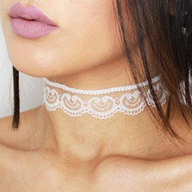 Fashion Simple Lace Design Choker Necklace