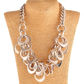 Personality Metal Circle Design Necklace