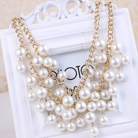 Splendid Multilayer Pearls Necklace