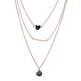 Multilayer Chain Pearl Decorated Necklace