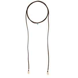 Metal Pendant Long Rope Necklace