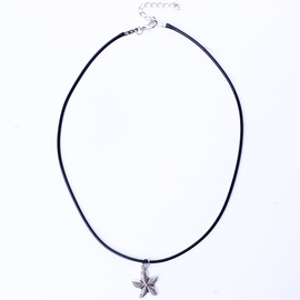 Leather Rope Starfish Pendant Necklace
