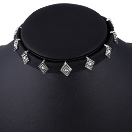 Punk Style PU Choker Necklace