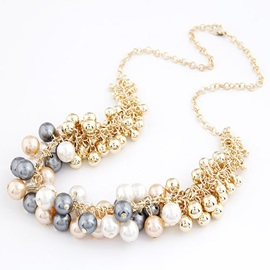 Pearl Alloy Multilayer Sweet Necklace