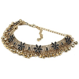 European Style Bell Decorated Beads Choker Necklace