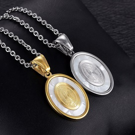 Lady Of Guadalupe Oval Cut African Necklace