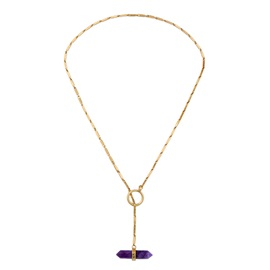 Synthetic Stones Bronze Ultra Violet Necklace
