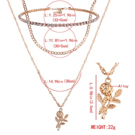 Rose Gold Double Layers Chain Necklace