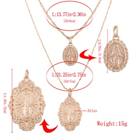 Virgin Mary Two-Piece Pendant Necklace