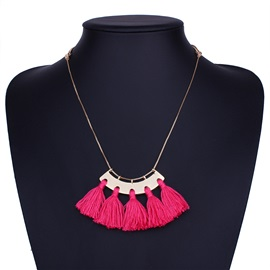 Tassel E-plating Clavicle Chains Necklace