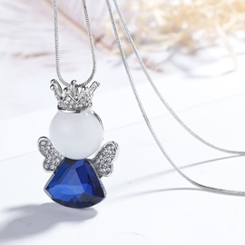 Little Angel Zircon Inlaid Sweet Pendent Necklace