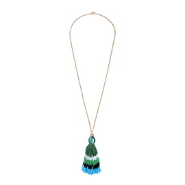 Long Tassel Bohemian Style Alloy Pendent Necklace