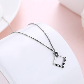 Rhombus Shape Personalized Alloy Chain Necklace