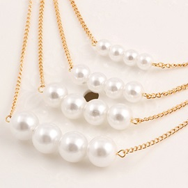 Multilayer Pearl Pendant Clavicle Chain Necklace