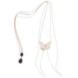 Butterfly Shape Pendant Pearl Summer Costume Body Chain