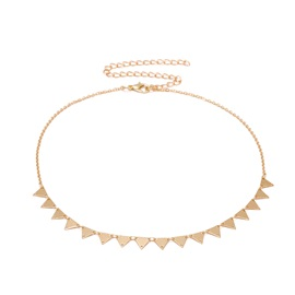 Concise Copper Triangle Shape Snake Chain Necklace
