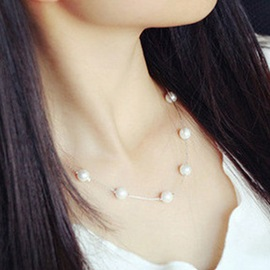Elegant Pearl Decorated OL Chain Necklace