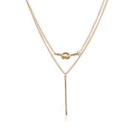 Concise Double-layer Geometric Clavicle Chain Necklace