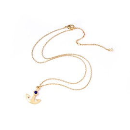 New In Concise Golden Anchor Shape Metal Clavicle Chains