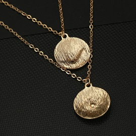 Star Coin Pendant Gold Layered Necklace
