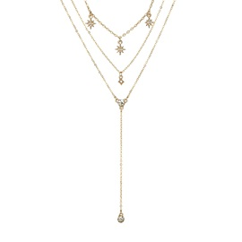 Sparkling Star Shape Clavicle Chains Gold Layered Necklace
