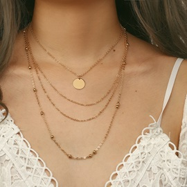 Personalized Bead Link Chain Gold Layered Necklace