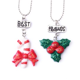 Bling Christmas Element Color Block Resin Link Chain