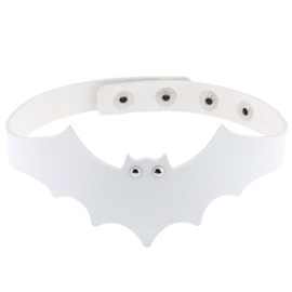 Devil Bat Shape Halloween Plain PU Necklace
