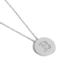 Letter Decorated Gold Sweater Coin Necklace