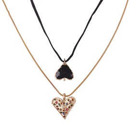 Concise Heart-Shaped African Style Necklace