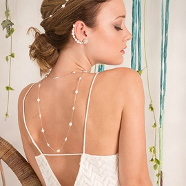 Beads Pearl Decorated Back Chain for Bride