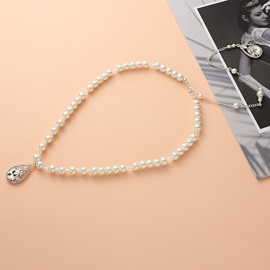 Handmade Bead Pearl Back Chain for Bride