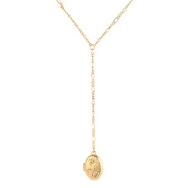 Golden Rose Shape E-Plating Pendant Necklace