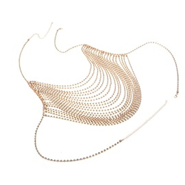 Shiny Summer Silver Rhinestone Body Chain