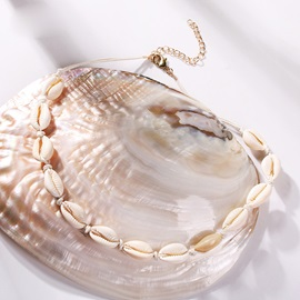 Natural Seashell Multi Layer Choker Necklace