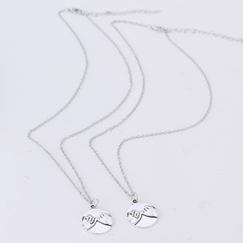 Shake Hands Pattern Couple Pendant Necklace